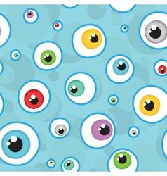 eyes seamless pattern vector image