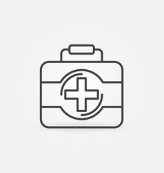 first aid kit outline icon medical bag vector image