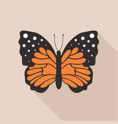 flat butterfly4 vector image