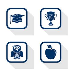 flat design icons education set vector image