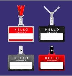 Flat name tag vector image