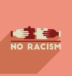 Flat web icon with long shadow racism fight vector