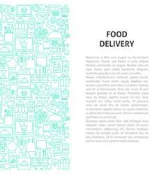 food delivery line pattern concept vector image