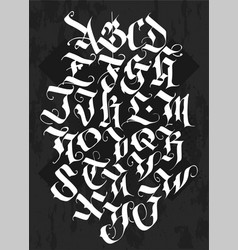 full alphabet in the gothic style vector image