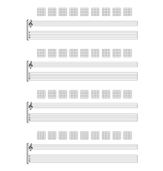 Guitar TAB Staff vector