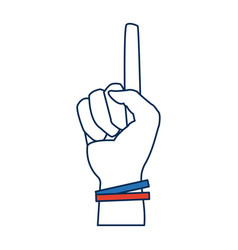 Hand first one finger pointing up style vector