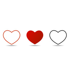 heart icon isolated on white background set of vector image