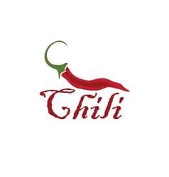 hot chili pepper design template vector image