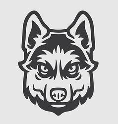 Huskies Head Logo Mascot Emblem vector