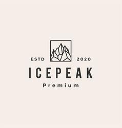 icepeak mount hipster vintage logo icon vector image