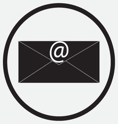 Icon monochrome black white e-mail message vector