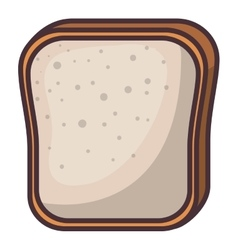 Isolated bread of bakery design vector