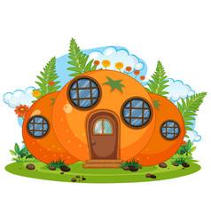 Isolated fantasy orange house vector