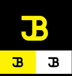 j and b monogram consist yellow letters vector image