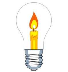 lamp and candle vector image