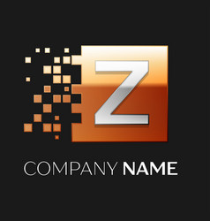 letter z logo symbol in the colorful square vector image