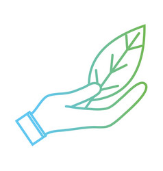line natural leaf to conservation the environment vector image