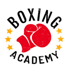logo for boxing academy vector image