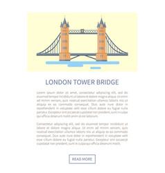 London tower bridge web page vector