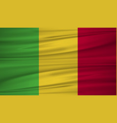 Mali flag flag of mali blowig in the wind eps 10 vector