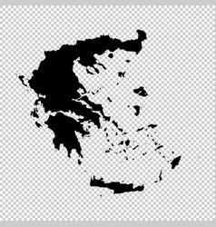 Map greece isolated black on vector