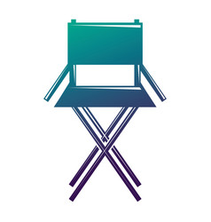 movie director chair equipment icon vector image