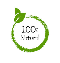 natural product text isolated vector image
