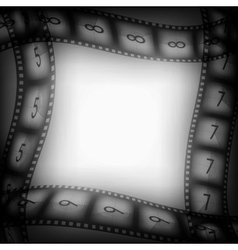Old movie films background vector image