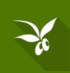 Olive icon with a long shadow vector