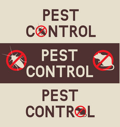 pest control banners with a cockroach and rat vector image