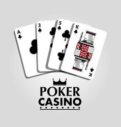 Poker casino card clover club bet risk concept vector