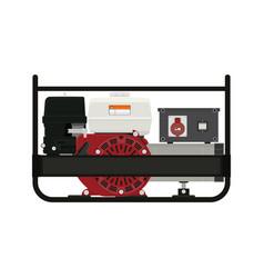 Portable electric generator vector