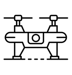 quadrocopter drone icon outline style vector image