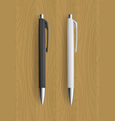 realistic pens for identity design vector image