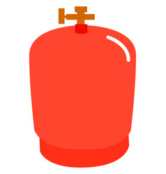 red gas bottle on white background vector image
