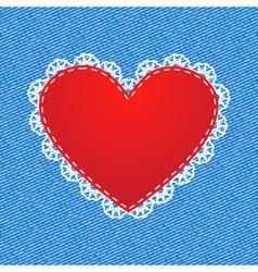 Red silk heart vector