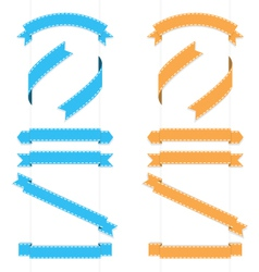 Ribbons 2 vector image