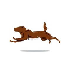 Running Dog Cartoon vector image