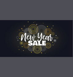 sale banner background for new year shopping sale vector image