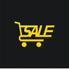 Sale cart icon vector image