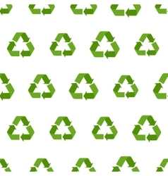 seamless flat recycling sign pattern vector image