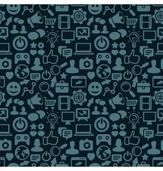 seamless pattern with social media icons - vector image