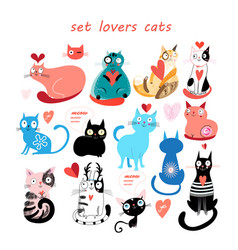 set cats vector image
