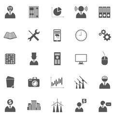 set of business icons symbols and pictogra vector image
