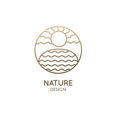 simple logo nature linear icon of vector image