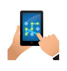 Smartphone security pattern vector