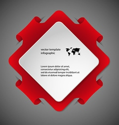 Square infographic template with red color vector