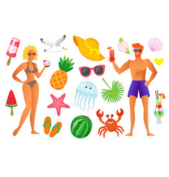summer vacation people on holidays summertime vector image