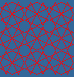 Tile blue and red pattern or seamless background vector