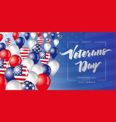 veterans day flying in sky balloons vector image